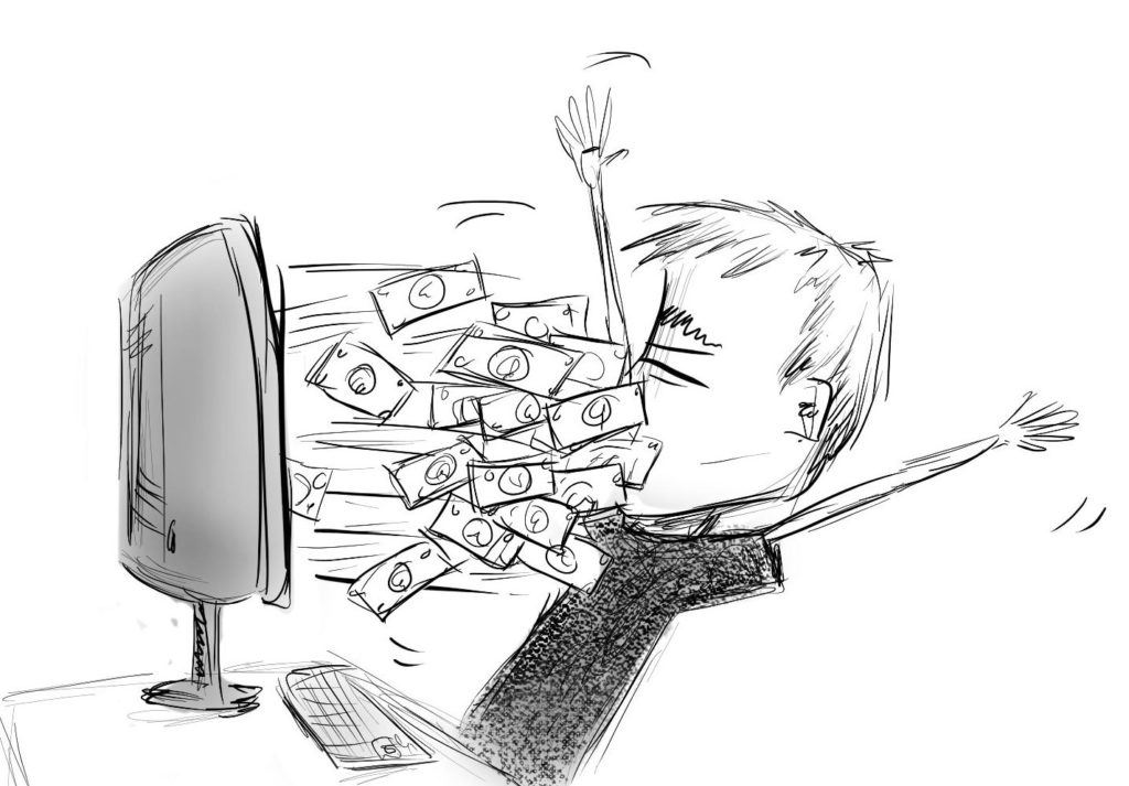 Making money through tech blogs can make it seem like money is pouring out of your monitor.